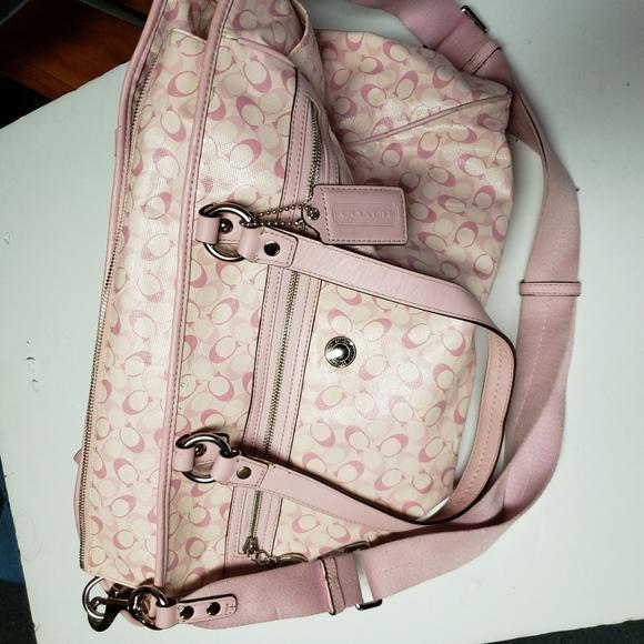 Coach Handbags - Pink Coach diaper bag
